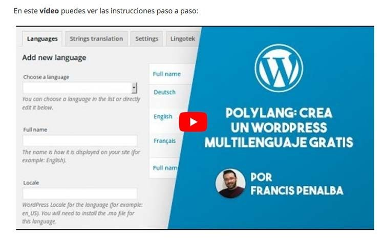 wordpress multilenguaje gratis free
