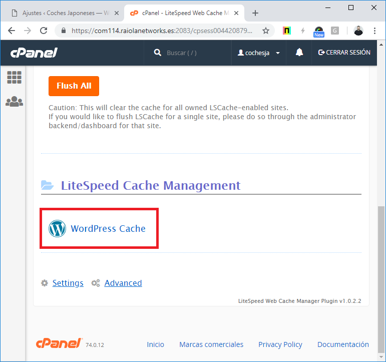 WordPress Cache LiteSpeed Cache