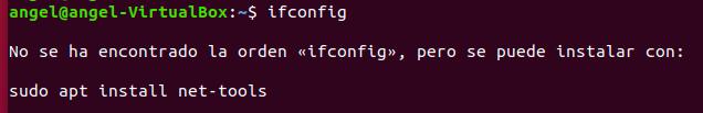 direccion IP error ifconfig linux