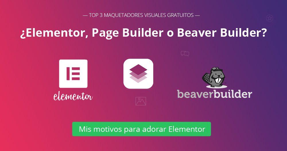 TOP 3 Page Builders gratis para WordPress