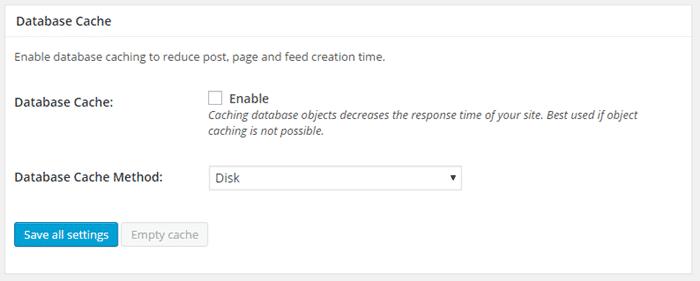 configurar W3 Total Cache